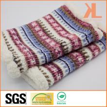 Écharpe 100% en acrylique et à laine d'agneau avec manche métallique