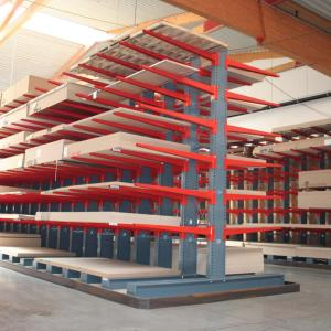 Heavy duty storage cantilever shelves storage racks for warehouse with Q235B Material