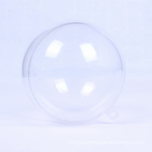 100mm plastic clear seamless christmas ball bauble