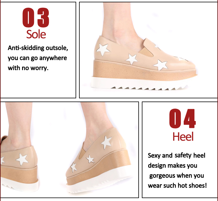high heel wedge casual shoes