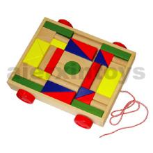 Деревянные блоки на колесах (36PCS) (80025)