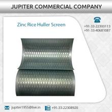 Geprüfte Qualität Zink Reis Huller Screen Verfügbar Reis Huller Maschinen