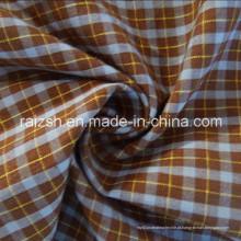 T / C jacquard fio-tingida xadrez tecido popelina para t-shirt