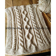 Customized OEM Cable Hand Knit Throw Blanket Expert Factory Manufacture