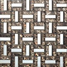 Aluminium Strip Design Mix Glass Mosaic