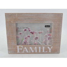Distressed MDF Silk-Screen Photo Frame for Home Deco