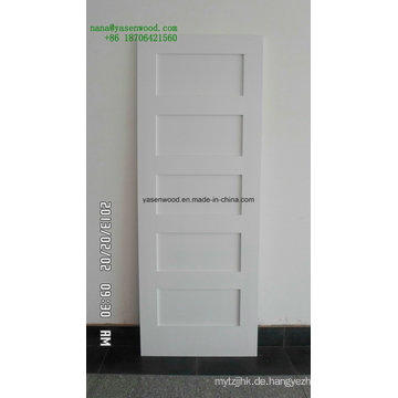 5 Panel grundierte Shaker White Door