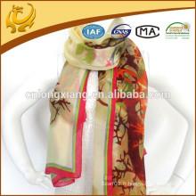 Design de la mode Hijab musique 100% écharpe en soie, châle en mousseline de soie haute qualité