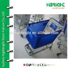 plastic grocery shopping trolley