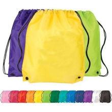 Promotional Pure Color Non Woven Bag Large Sports Nylon Cloth Drawstring Bag