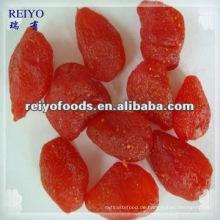 Getrocknete Erdbeere in Sirup