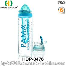 Recém Por Atacado Tritan Fruta Garrafa De Água De Infusão, BPA Garrafa De Plástico Infusor De Frutas Grátis (HDP-0476)