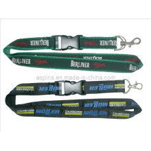 Woven Lanyard with Metal Hook & Retractable Buckle