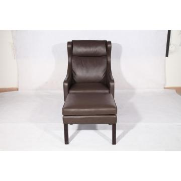 Borge Mogensen 2204 lounge chair and ottoman réplica
