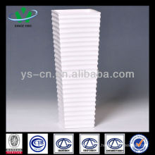 White Ceramic Decorative Vase Tall Wedding Vase