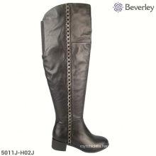 chunky heel ladies high heel slippers low price boots
