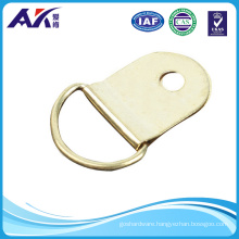 One Hole D Ring Hanger Brass Plated