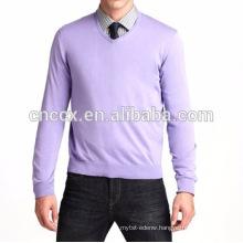15PKCAS10 2016-17 Men's winter high quality V-neck 100 %pure cashmere sweater