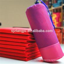 Promotional top quality gym/ beach/yoga/sports microfiber towel