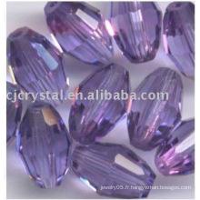 Nouvelle perle d'olive en cristal