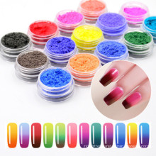 Thermochromic pigment powder change color with temperature changing