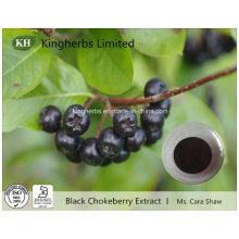 Extracto de Chokeberry preto Anthocyanidins 1% ~ 25% por UV
