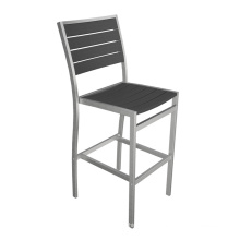 Without Arm Square Seating Stack Black Wooden Pub Stool
