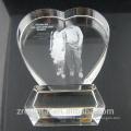 Laser 3D personnalisé gravé K9 clair cristal coeur Awards Best Birthday de cristal, cadeaux Souvenirs de mariage