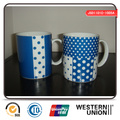 Blue Color Straight Shape Mug in Porcelain