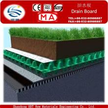Feuille de drain de fossette en plastique pour le jardin de toiture