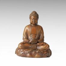 Buddha Bronze Skulptur Shakyamuni / Gautama Handwerk Dekor Messing Statue Tpfx-B97