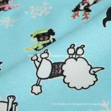 Tissu 100% coton flanelle pour pyjamas avec imprimé animal (C20X10 / 40X42)