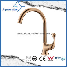 Newly Polished Rose Gold Kitchen Single Handle Faucet