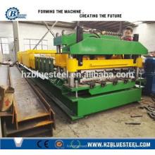 Glasierte Metall Stahl Dachziegel Roll Forming Produktionslinie, Metall Fliesen Roll Forming Machine Preis