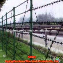 Green dip coating barbed wire with reasonable price in store