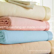 Manta tejida de lana de hotel 100% lana