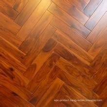 Solid Real Herrybone Acacia Wood Flooring Hotel & Home Flooring