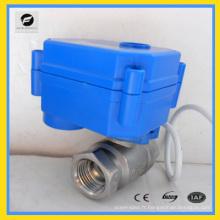 Robinet à tournant sphérique automatique électrique de 2 manières pour l'irrigation de jardin 12v