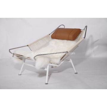 Flag Halyard Modern Lounge Chair