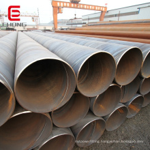S235 S355 Large diameter thick wall spiral welded steel pipe carbon spiral piling pipe