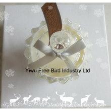 El arte de las decoraciones de la fiesta de cumpleaños de la fábrica de China sacude la vela de cristal