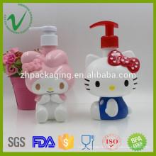 Design de dessin animé personnalisé 400ml pompe à lotion vide bouteille en plastique pour cosmétiques