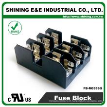 FB-M033SQ UL aprovado 600V 30A classe M caixa de fusíveis montada em painel de 3 vias