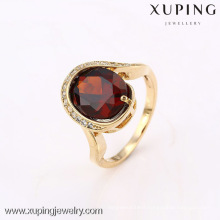 12640 Xuping new product big stone 18k plated ring