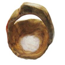Antike Primitive geschnitzte dauerhafte natürliche hölzerne Schüssel