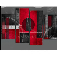 Black and Red Modern Canvas Oil Painting