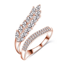 Boutique Leaf Shape Cubic Zirconia CZ Women Costume Ring (CRI1041)