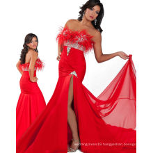 Red Strapless Pageant Dress Party Dress with Rhinestones RO11-12