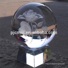 transparent 3D Laser crystal glass ball,clear K9 crystal ball