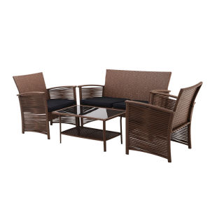 4pc Rattan sofa patio furniure set